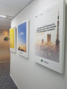 CellMark_posters_in_hallway