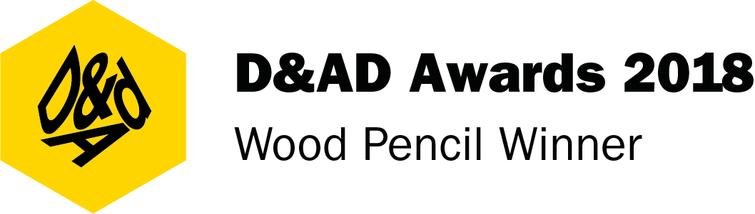 Logotype of D&AD Awards 2018 Wood Pencil.