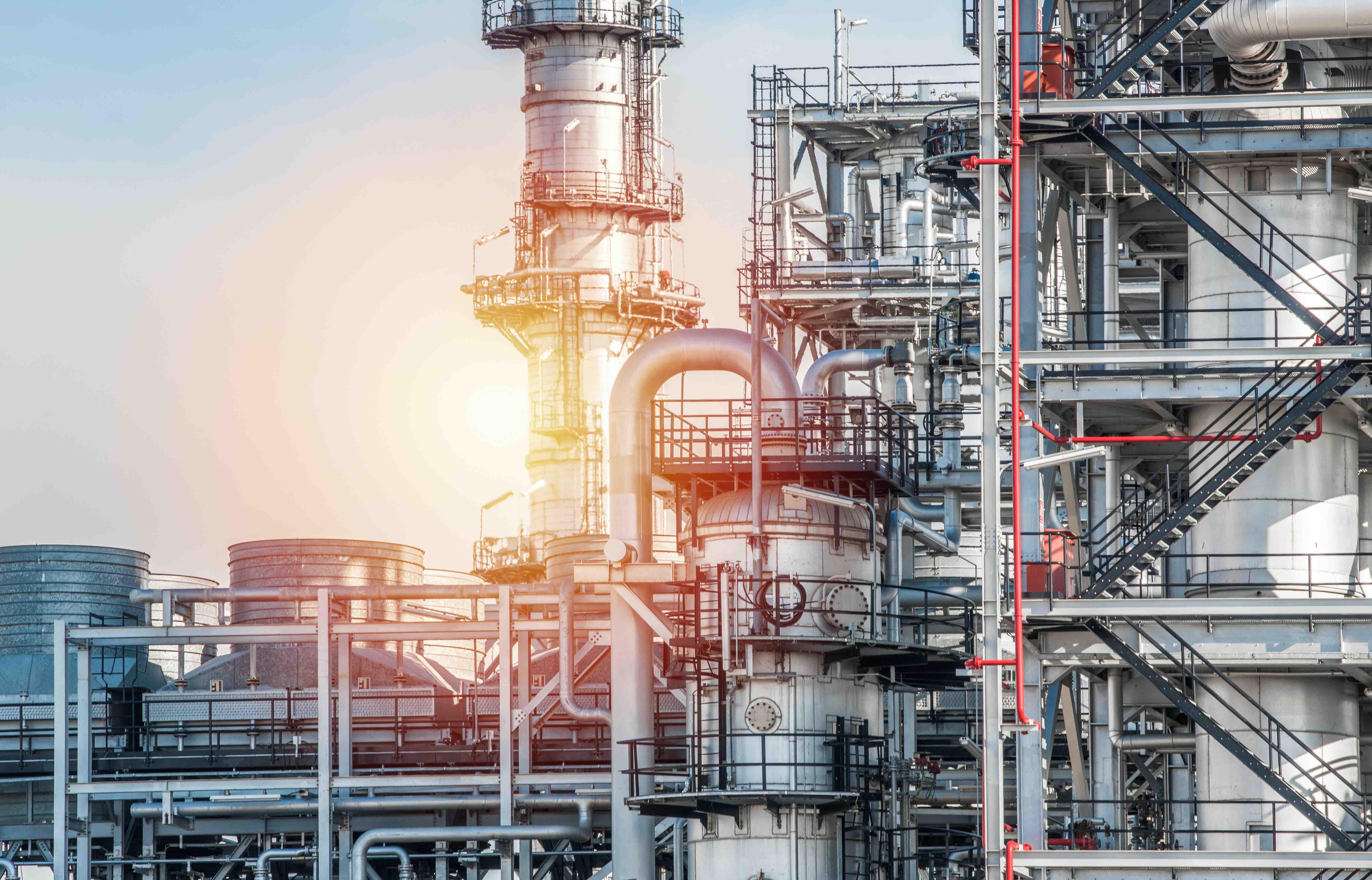 Industrial Oil refininery in sunlight