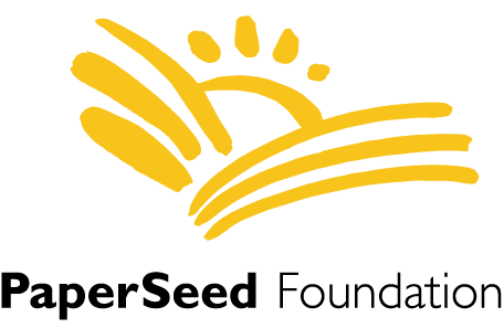 paperseed yellow and black logotype