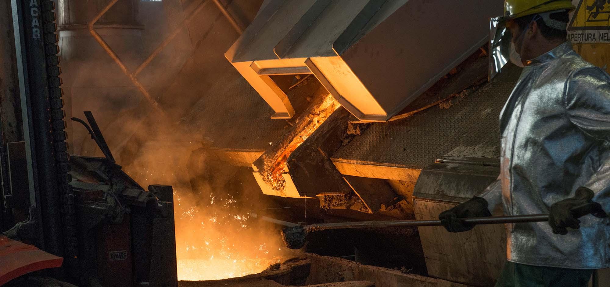 metal worker in action