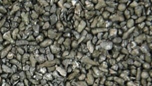 close-up of stainless steel grit