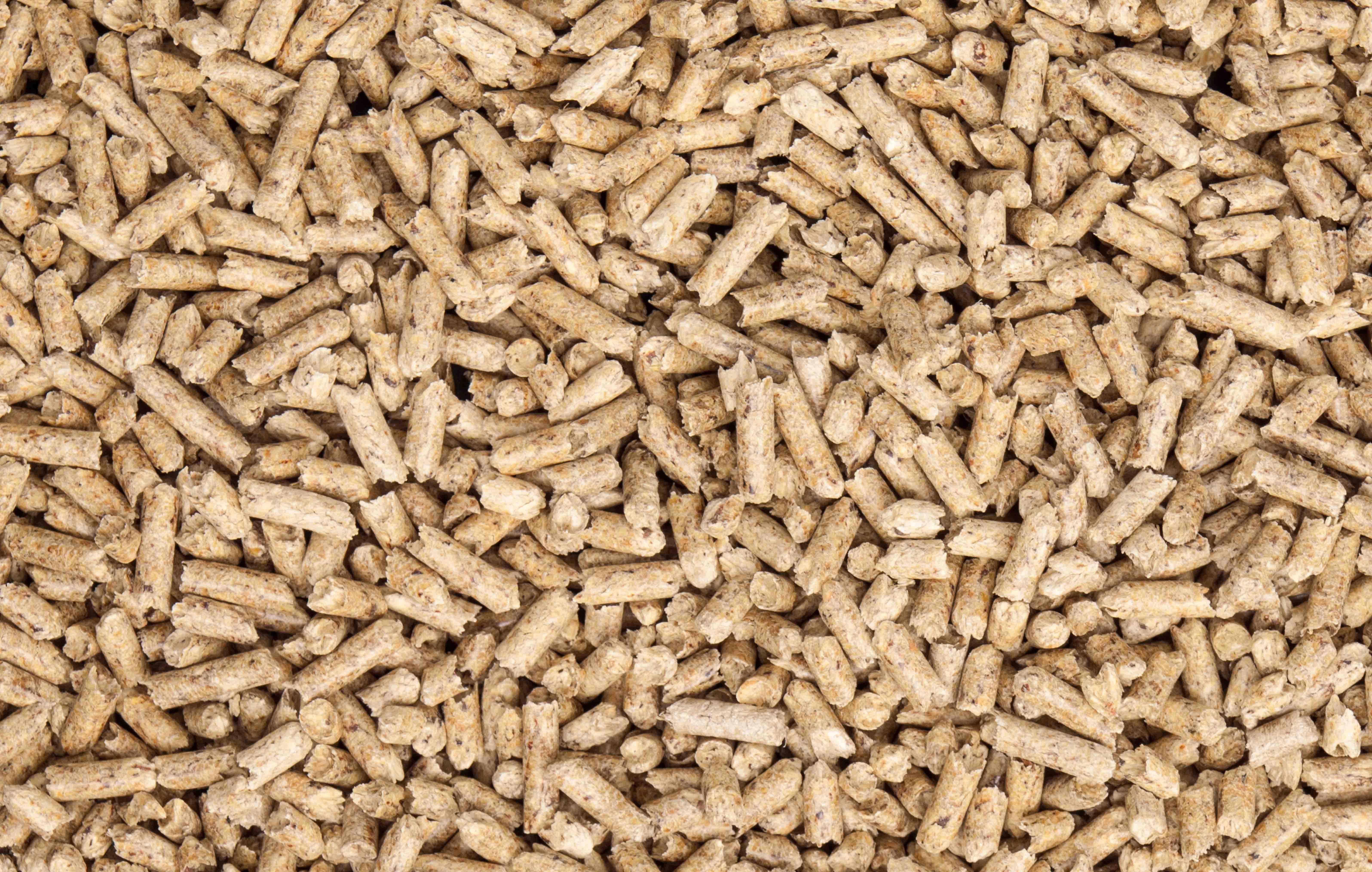 a bunch of wood pellets
