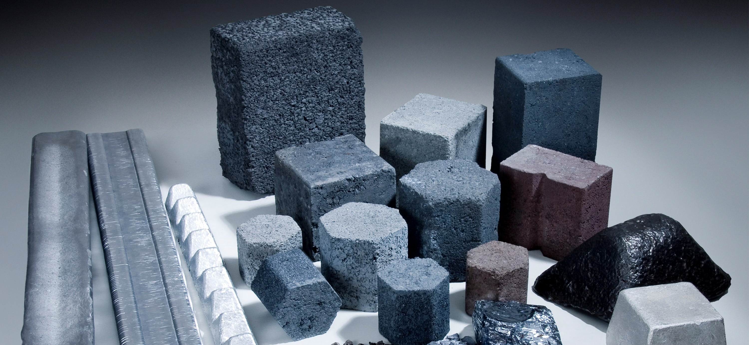 collection of furnance briquettes