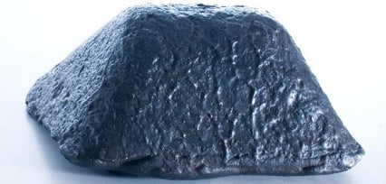 close-up of a pig iron