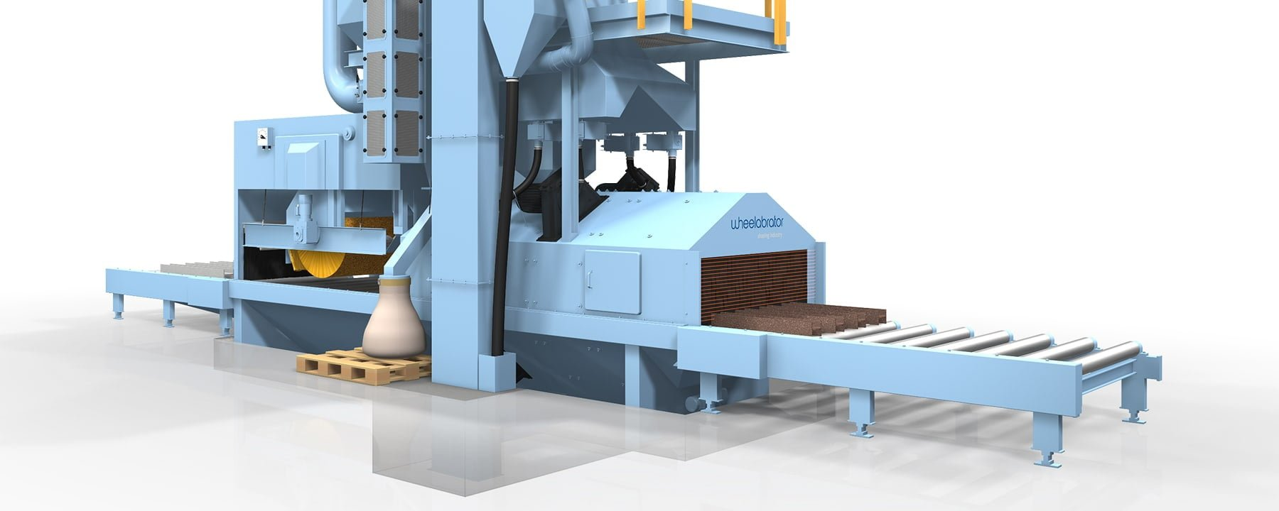 light blue wheelabrator equipment