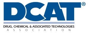 white and blue dcat logotype