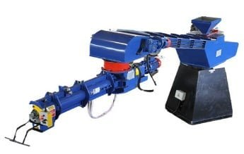 blue, red and black continuous sand mixer machine