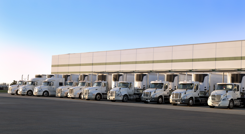 road of trucks