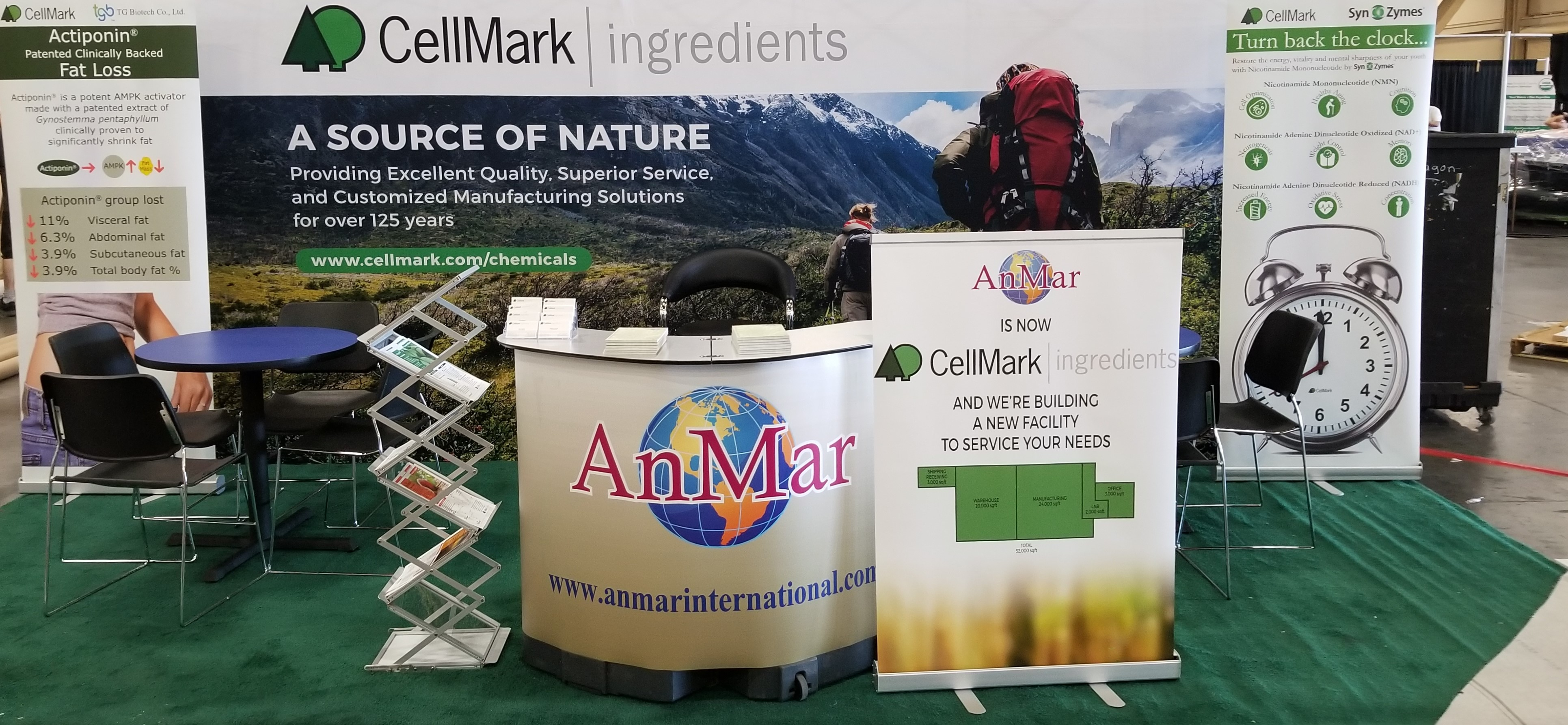 cellmark ingredients tradeshow booth