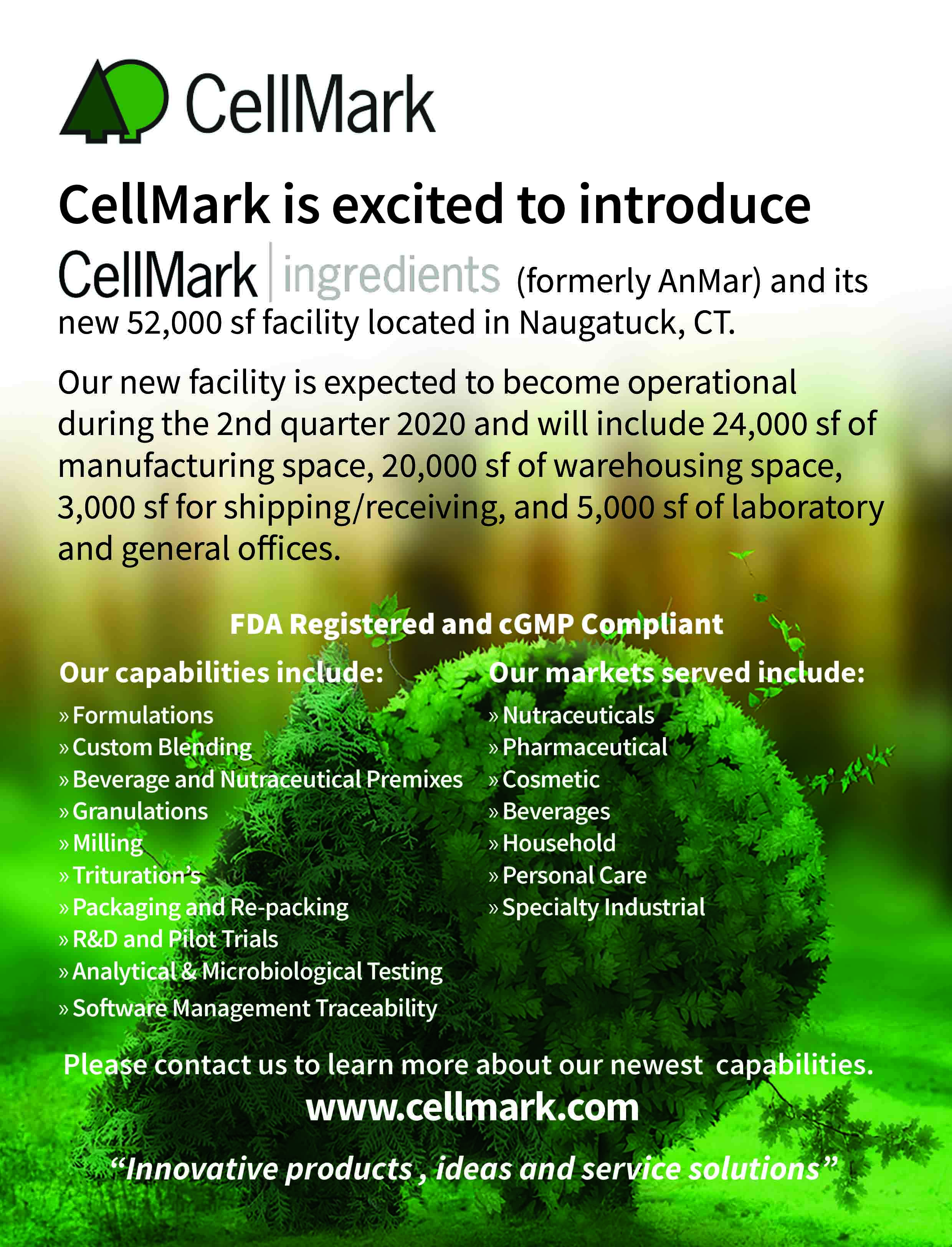 cellmark ingredients facility poster