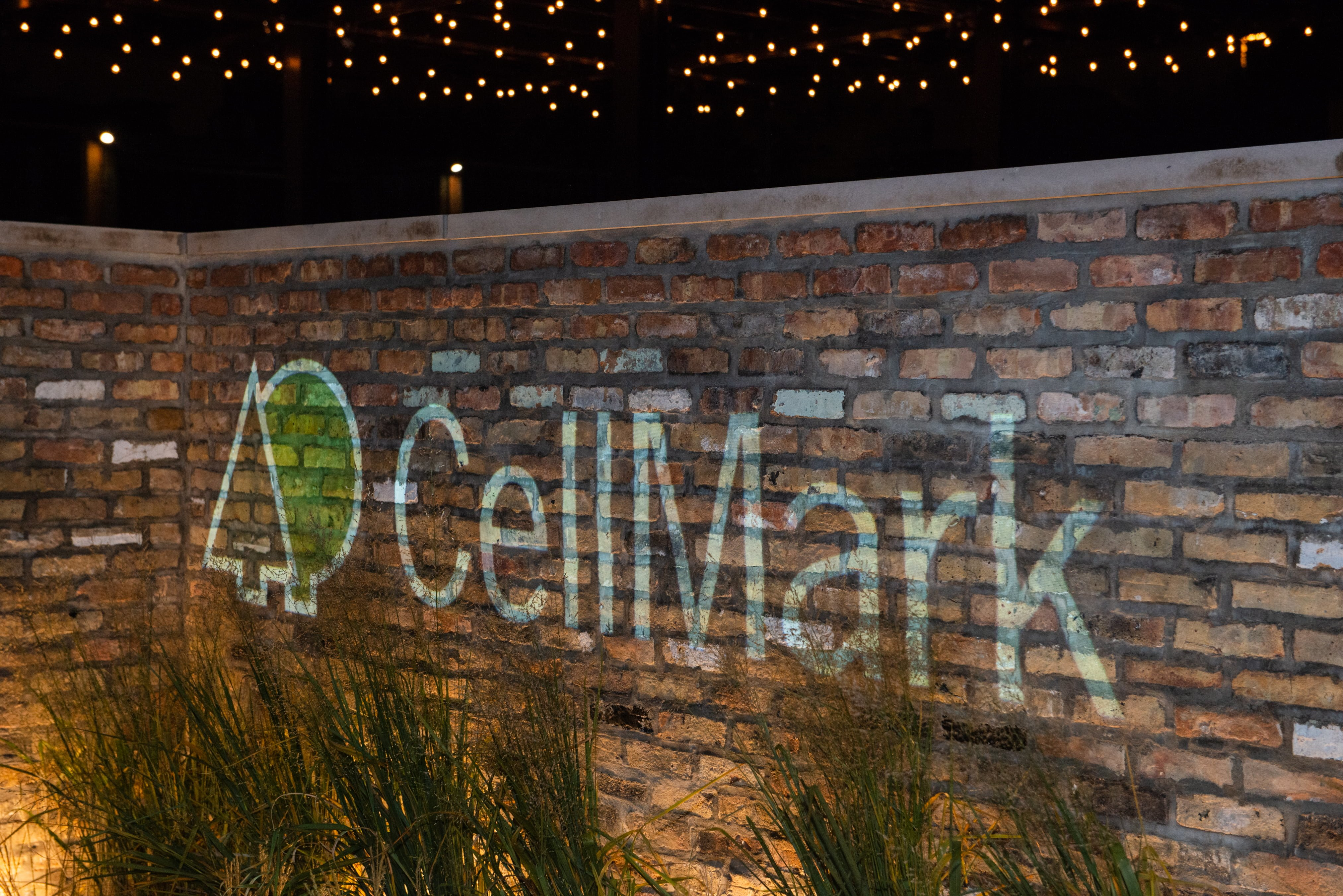cellmark logo on a brick wall