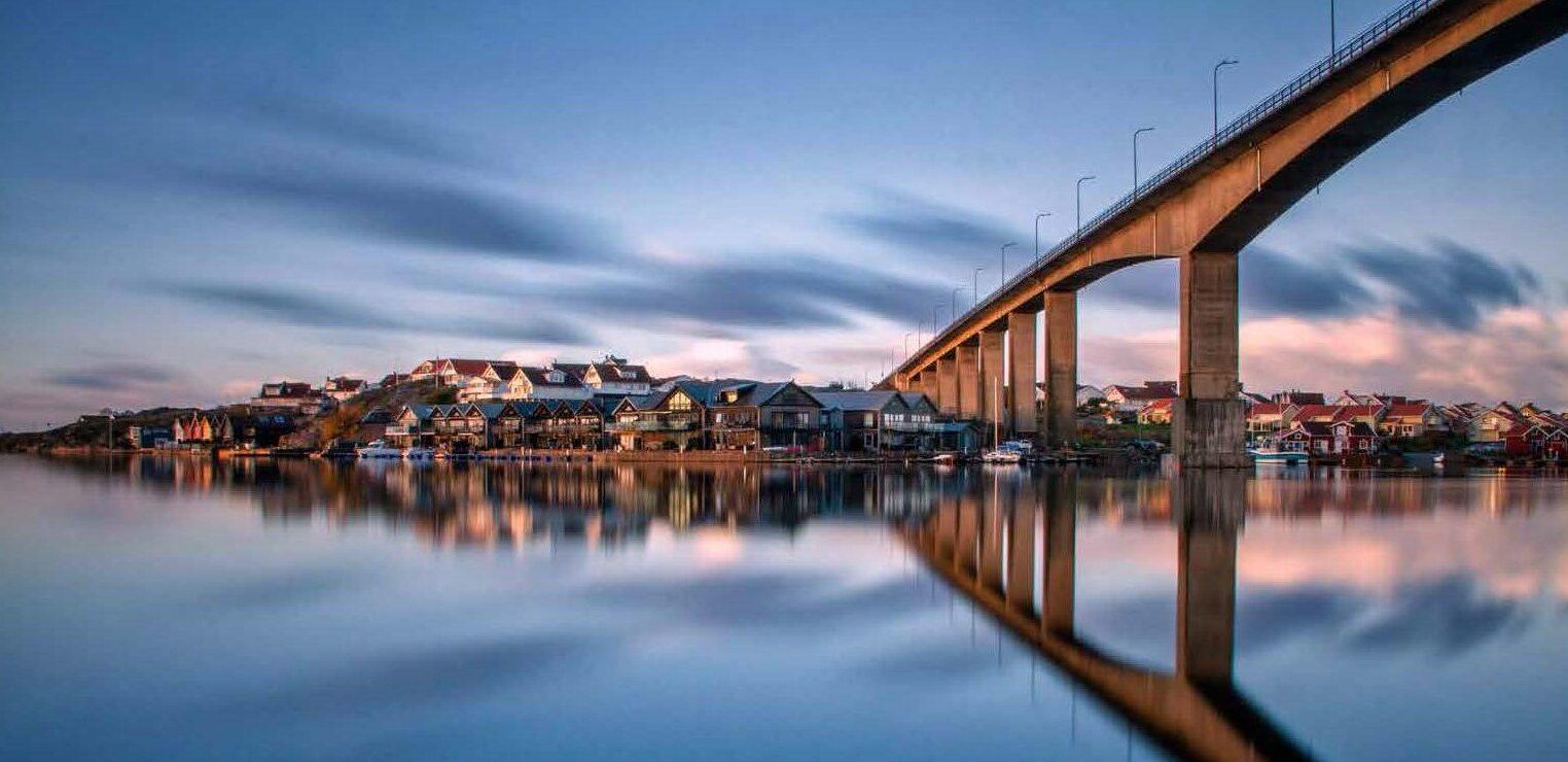 smogen bridge in sunset