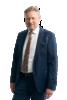 gentleman dressed up in dark suit and colorful tie