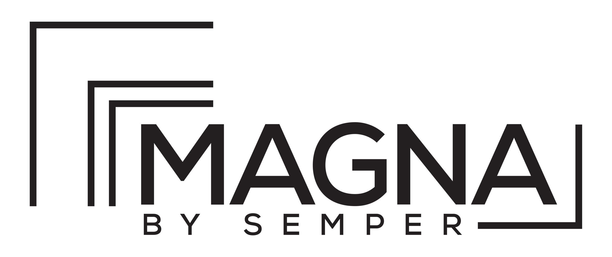 semper magna matboard in black