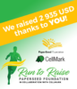 green, white and yellow poster for run to raise 2021 charity event